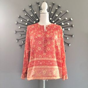 J. Crew coral long sleeve size 6